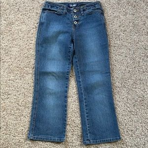 Angels Button Fly Cropped Jeans Size 3